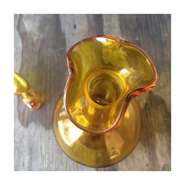 Image of Vintage Glass Golden Decanter