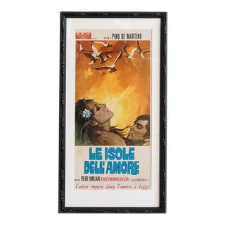 1970 Italian Movie Poster, Le Isole Dell'amore, R. Gasparri