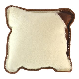 Brown & White Fur Hide Pillow