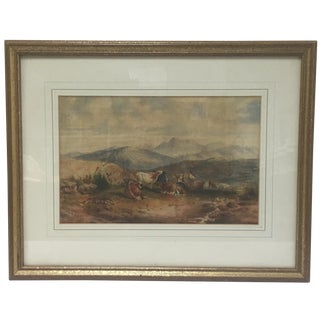 19th-C. Cattle Watercolor by T. Smith