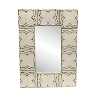 White Clover Pattern Mirror