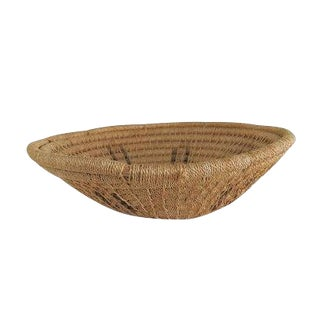 Vintage Natural Handwoven Round Bowl Basket