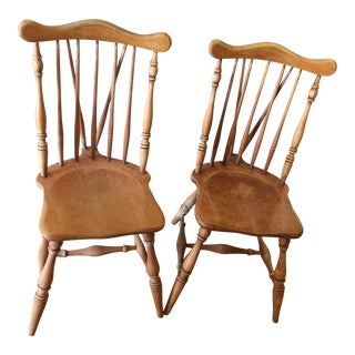Early American Splat Tapered Windsor Chairs- A Pair