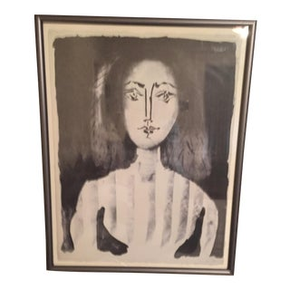 "Picasso ""A Young Woman in a Striped Blouse"" Print"