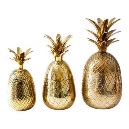 Brass Pineapple Candleholders - Set of 3 - Image 1 of 3