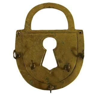 Brass Padlock Key Holder