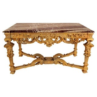French Gilt Center Table