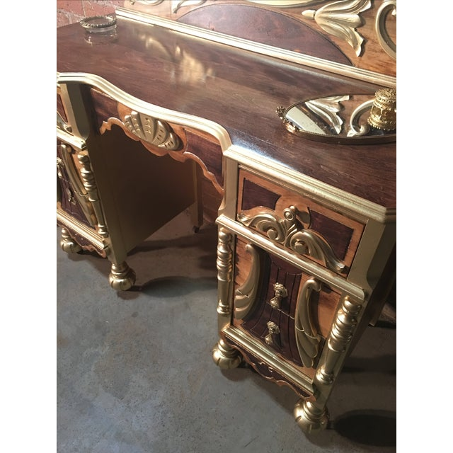 1920s Art Deco Vanity Table with Seat - Image 5 of 10