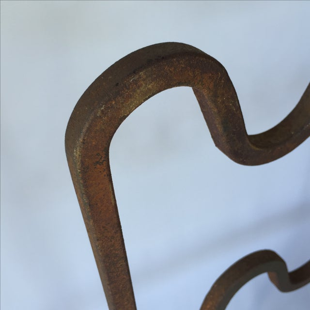 1940s Sculptural Modernist Iron Patio Chairs - 4 - Image 11 of 11