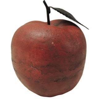 Large Red Apple Sculpture