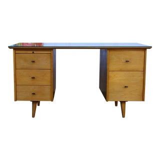 Paul Mccobb Double Pedestal Desk