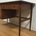 Image of Walnut And Formica Desk