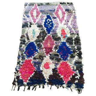 """Vintage Moroccan Diamond Boucharouite 3'4""""x 5'2"""""""