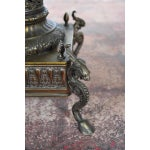 Image of Bronze & Copper Pedestal Column with Marble Top