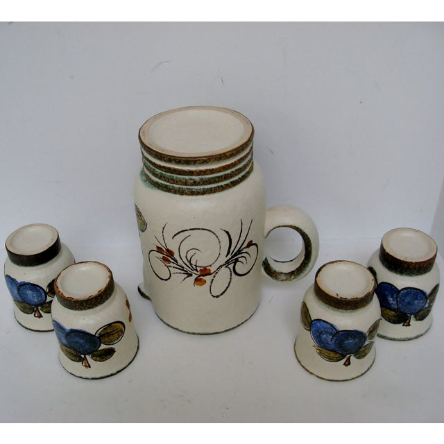 Vintage Hand Painted Italian Pitcher & Cup Set - Image 7 of 7