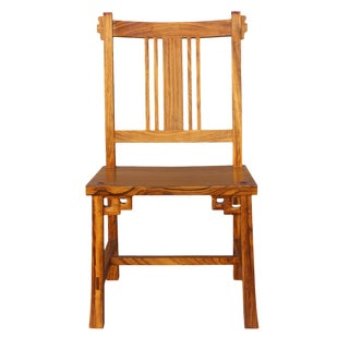 Handmade Solid Zebra Wood Bar Chair
