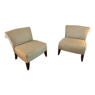Ethan Allen Slipper Chairs - a Pair