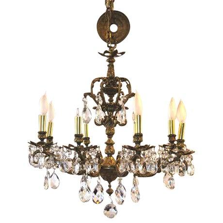 Antique Brass Chandelier - Image 1 of 4