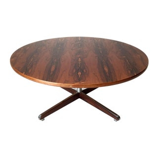 Danish Modern Rosewood Circular Coffee Table