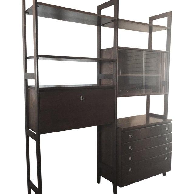 mid century modern modular free standing wall unit chairish. Black Bedroom Furniture Sets. Home Design Ideas