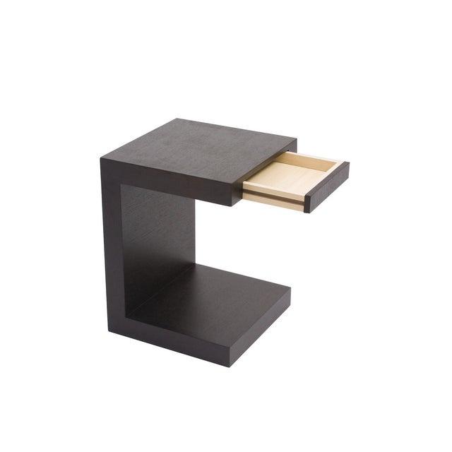 Image of Dark Oak Modern Slide-In Side Table