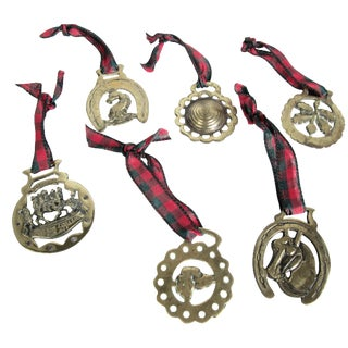 Horse Brass Christmas Ornaments