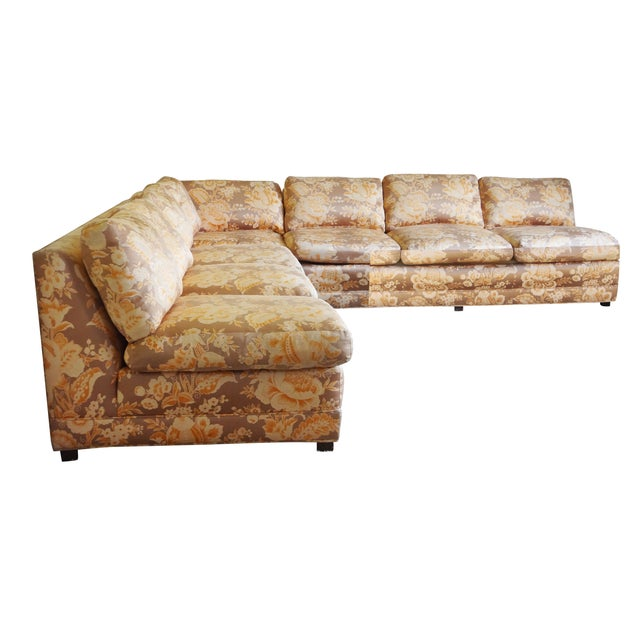 Baker Furniture Armless Sectional Sofa - 3 Pieces - Image 9 of 10