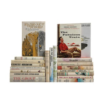 Mid-Century Dustjacket Books - Set of 20