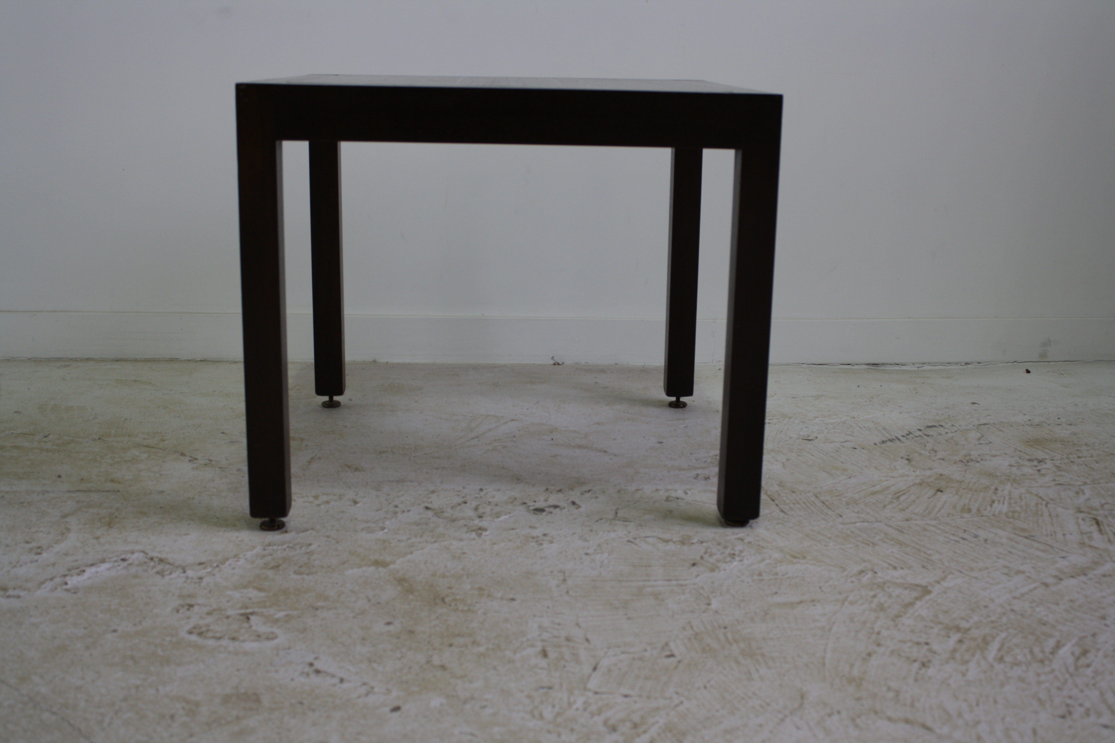 Dunbar Parsons Wood Side Table With Brass Inlay   Image 3 Of 7
