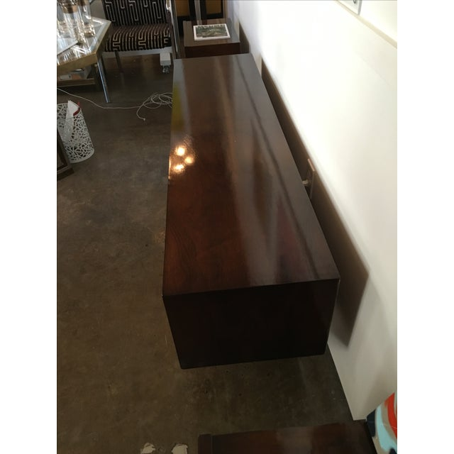 Mid Century Modern Argentine Manner of Jean Michel Frank by Comte Walnut Low Sideboard / Credenza - Image 5 of 10