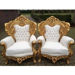 Image of Rococo Italian Style Club Chairs - 2
