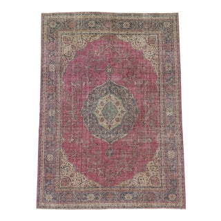 Vintage Turkish Oushak Rug - 8′10″ × 12′3″