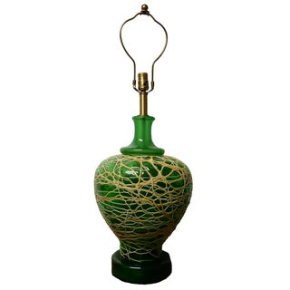 Large Green Murano Glass Table Lamp