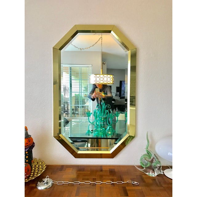 Springer Style Brass Beveled Glass Mirror - Image 2 of 9