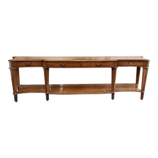 Spectacular Huge Georgian Style Walnut Console or Sofa Table