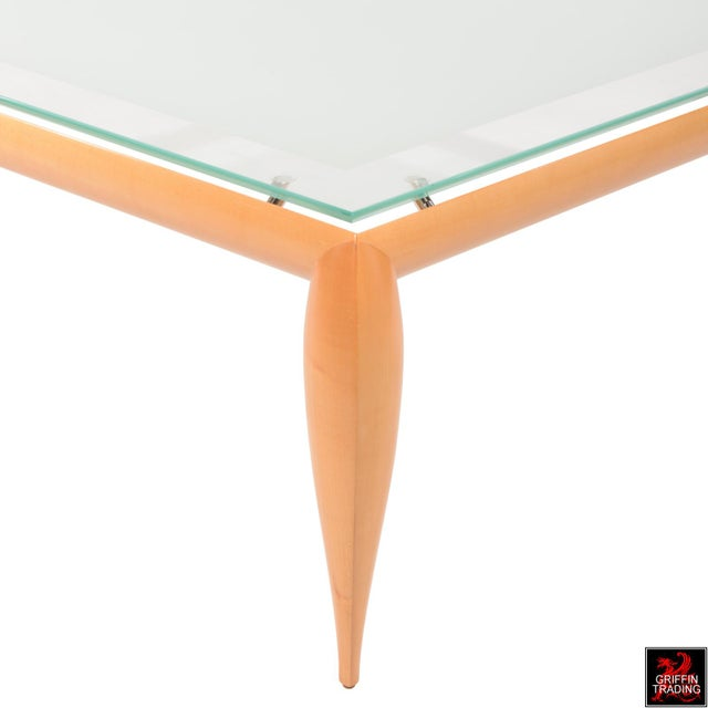 Leggins Square Glass Top Coffee Table by Brueton - Image 5 of 7