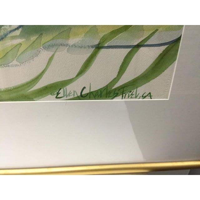Ellen Friel Watercolor Painting in Gold Frame - Image 3 of 3