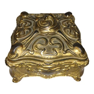 Antique Art Nouveau Jennings Brothers Jewelry Casket