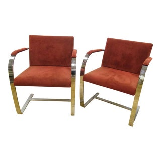 PR Alivar Italy Modern Chrome Chairs - A Pair