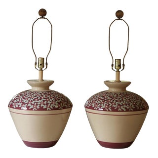 Decorative Porcelain Lamps - a Pair