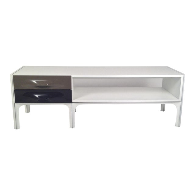 Raymond Loewy Free Standing Low Two Sided Cabinet/ Coffee Table - Image 1 of 6