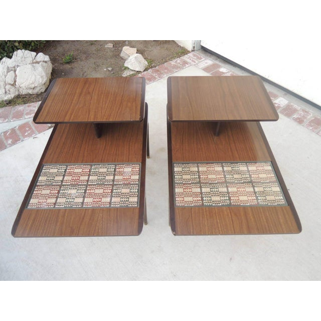 Image of Midcentury Modern End Tables - a Pair