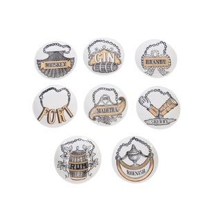 Fornasetti Vini E Liquori Coasters - Set of 8