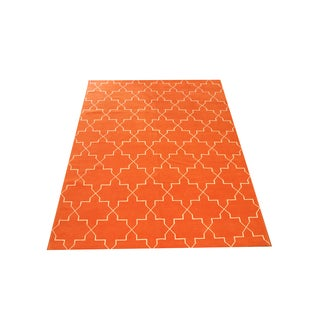 Madeline Weinrib Orange Brooke Rug- 8' X 10'