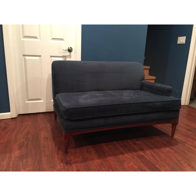 Mid-Century Modern Blue Three-Piece Sectional - Image 4 of 11