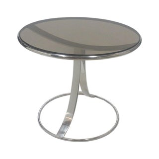 Steelcase Chromed Steel Round End Table