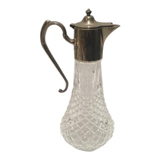 English Claret Silver-Plated Glass Jug