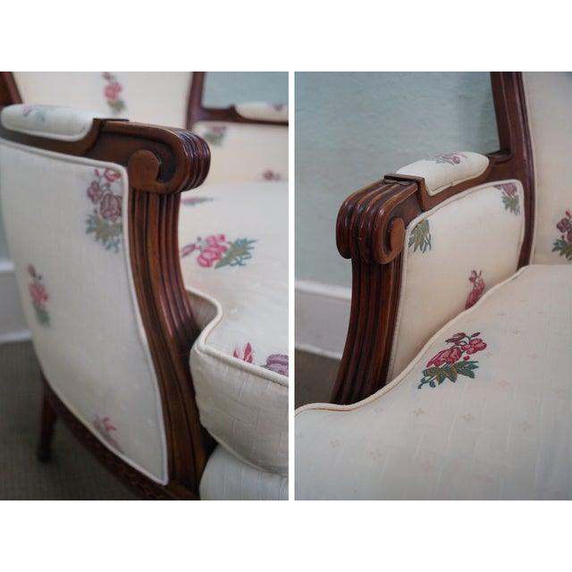 Kravet Mahogany French Louis XVI Chairs - Pair - Image 10 of 10