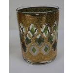 Image of Culver Gold & Green Cocktail Glasses - Set of 8