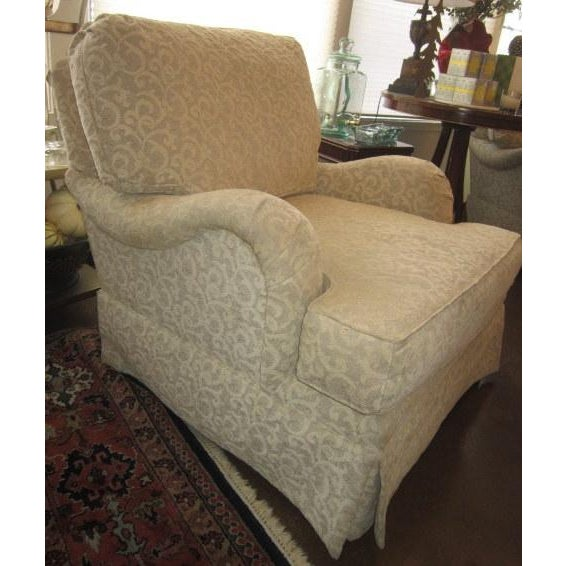 Image of Club Chairs With Ottoman